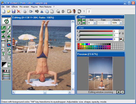 Vicman 39 s photo editor logiciel de photo logiciel de for Image miroir photoshop